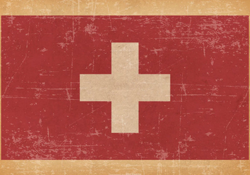 Grunge Flag of Switzerland - бесплатный vector #438357