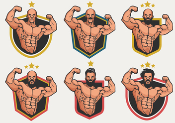 Flexing Logo Badge Vector Collection - бесплатный vector #438367