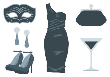 Masquerade Ball Icons Vector - бесплатный vector #438377
