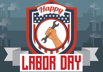 Labor Day Vector Background - vector gratuit #438387
