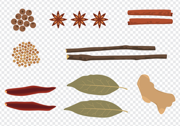 Culinary Spices - vector gratuit #438437