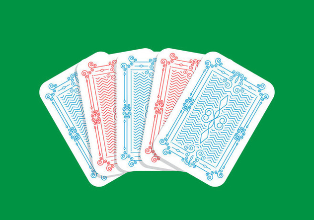 Playing Card Back - vector gratuit #438457