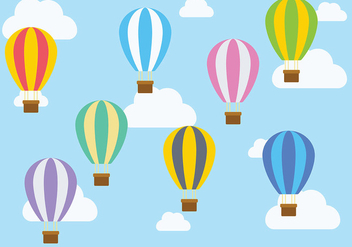 Hot Air Balloon Icon Vector - vector gratuit #438477