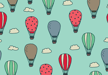 Doodled Air Balloons In The Sky - Free vector #438487