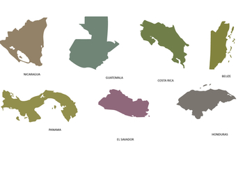 Central America Map - Kostenloses vector #438507