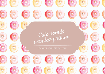 Vector Hand Drawn Donuts Pattern - Free vector #438537