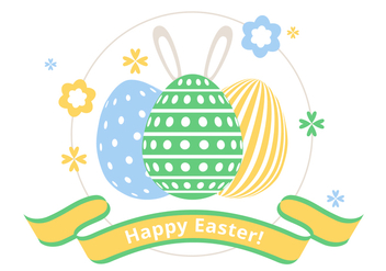 Free Spring Happy Easter Vector Illustration - Kostenloses vector #438557