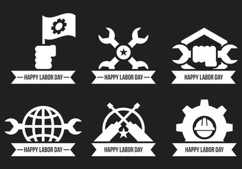 Labor Day Vector Icons - бесплатный vector #438637