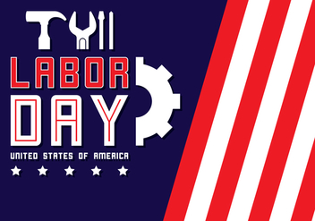 Labor Day Background - vector gratuit #438647