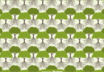 Tree With Roots Seamless Pattern - vector #438717 gratis