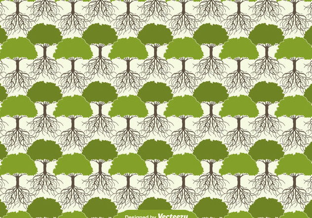 Tree With Roots Seamless Pattern - vector gratuit #438717