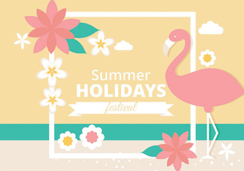 Free Tropical Summer Vector Illustration - бесплатный vector #438737