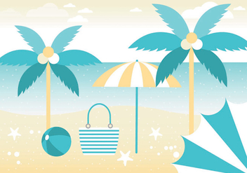 Free Summer Vacation Vector Greeting Card - Kostenloses vector #438747