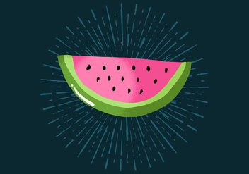 Radiant Watermelon - vector gratuit #438777
