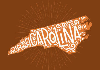 North Carolina State Lettering - vector gratuit #438797