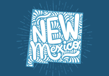 New Mexico state lettering - Free vector #438847