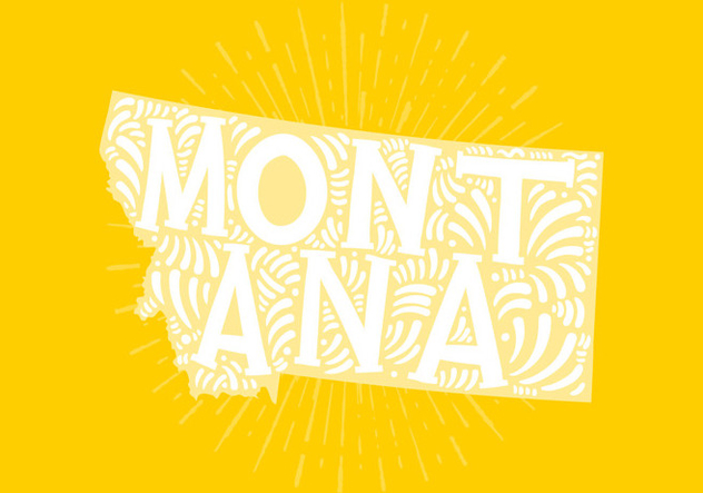 Montana state lettering - Free vector #438857