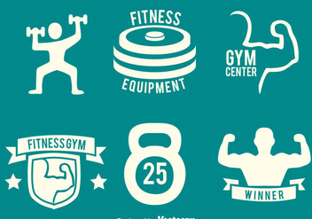 Fitness Gym Logo Vectors - бесплатный vector #439287