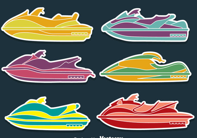 Water Jet Collection Vectors - Free vector #439297