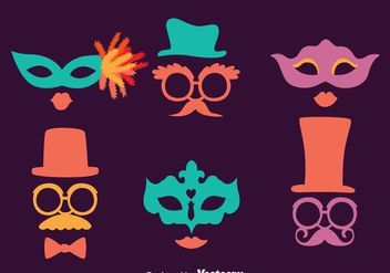 Masquerade Mask Collection Vectors - vector gratuit #439307