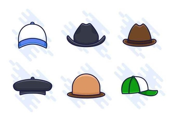 Free Outstanding Hat Vectors - бесплатный vector #439327