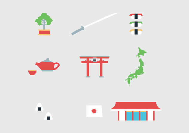 Japanese Elements - vector gratuit #439347