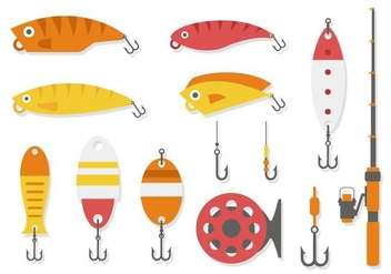 Free Fishing Tools Collection Vector - Free vector #439357