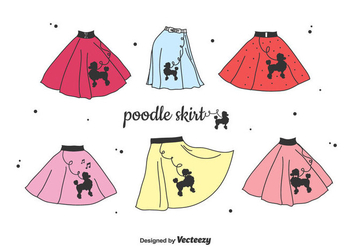 Poodle Skirt Vector Set - Free vector #439367