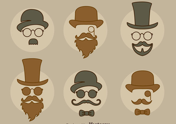 Man Retro Style Collection Vector - vector gratuit #439407