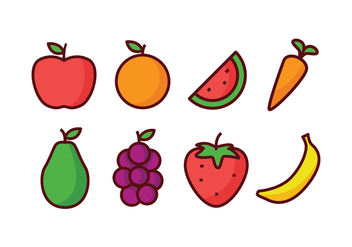 Fruit Icon Pack - vector gratuit #439447
