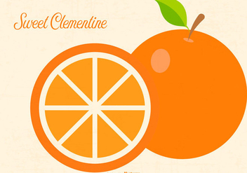 Flat Clementine Illustration - Free vector #439467