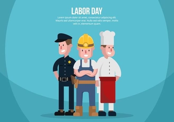 Labor Day Illustration - vector gratuit #439527