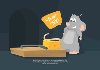 Mouse Trap Illustration - vector #439537 gratis