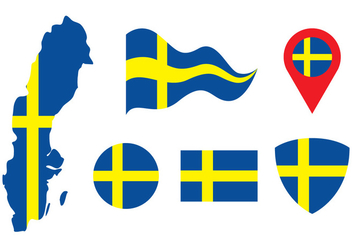 Sweden Vector Set - vector #439557 gratis