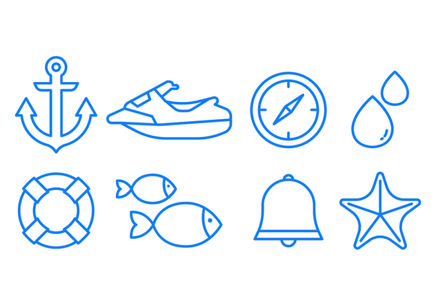 Sea Icon Set - Free vector #439577