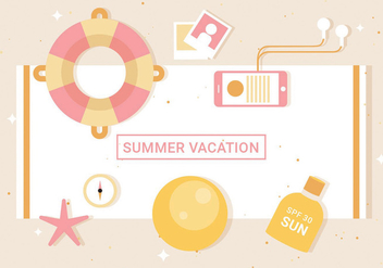 Free Flat Vector Summer Elements - vector gratuit #439597