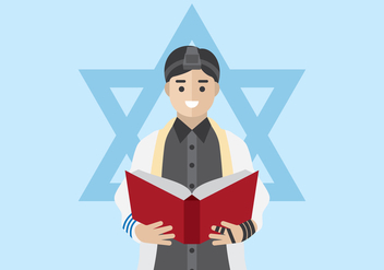Jewish Man Praying - бесплатный vector #439637