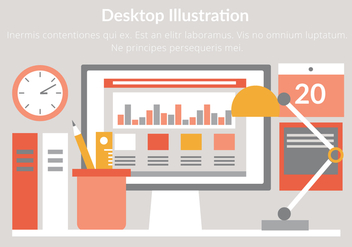 Free Vector Desktop Illustration - vector #439657 gratis