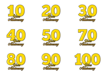 Anniversary label collection - Free vector #439697