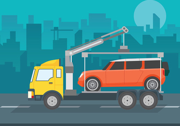 Towing Vector Background - vector gratuit #439707