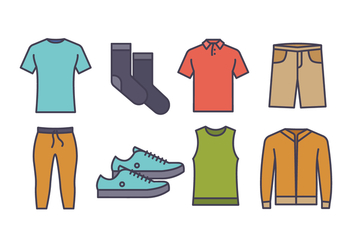 Men Fashion Icon Pack - vector #439727 gratis