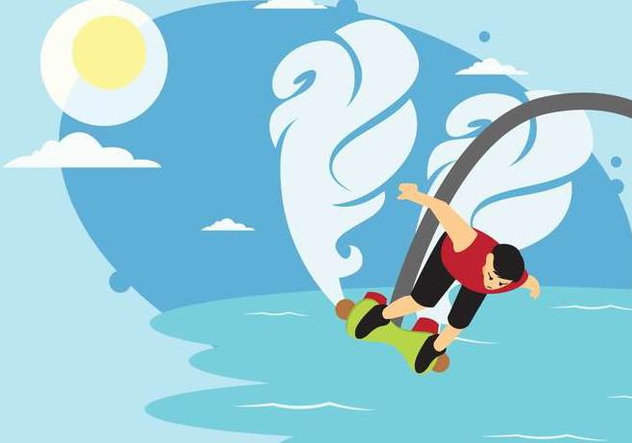 Extreme Flyboarding Water Jet Vector - Free vector #439857