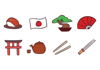 Japan Icon pack - Free vector #439917
