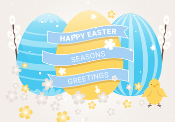 Free Easter Holiday Vector Background - Free vector #439947