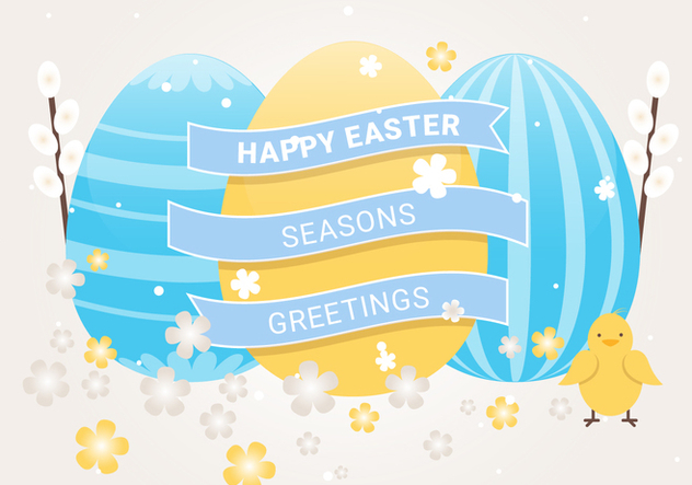 Free Easter Holiday Vector Background - бесплатный vector #439947