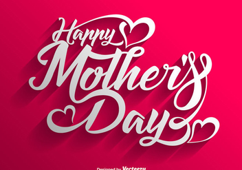 Vector Happy Mother's Day Lettering Background - vector gratuit #439987