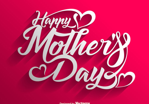 Vector Happy Mother's Day Lettering Background - бесплатный vector #439987