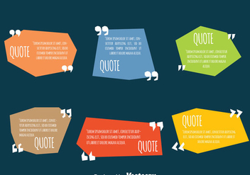 Colored Testimonial Quote Design Template Vectors - Free vector #440017