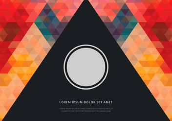 Prism Shape Cover Template - Free vector #440027