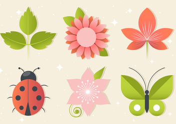 Free Floral Greeting Vector Elements - Free vector #440037